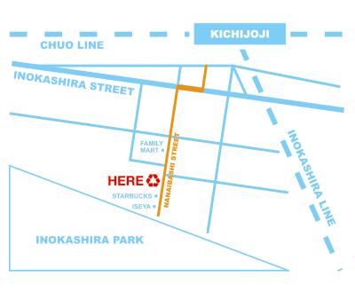 吉祥寺店地図
